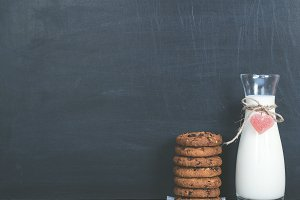 Fragrant cookies and fresh milk