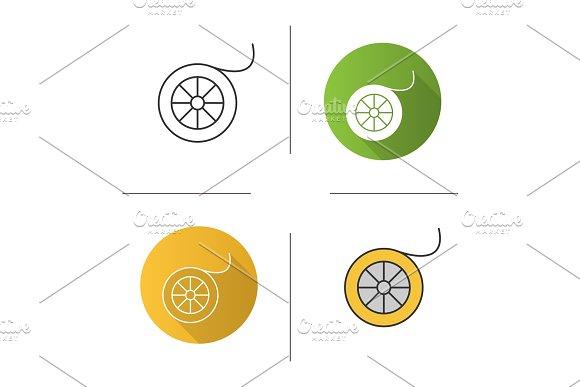 Fishing line spool icon