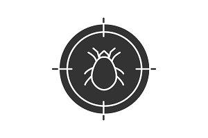 Mite target glyph icon