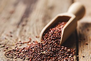 Healthy quinoa seeds