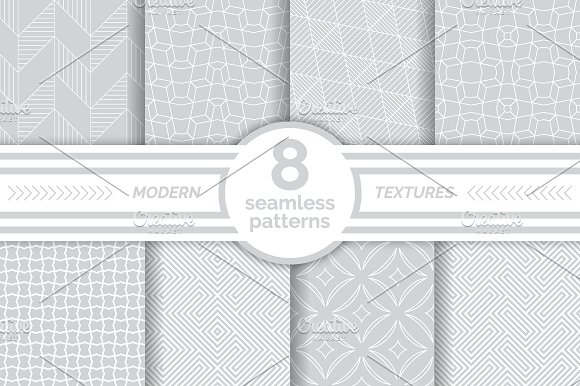 Modern Seamless Gray White Patterns