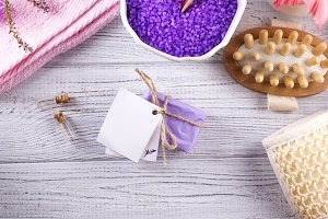Various spa and beauty threatment products