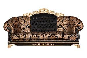 Luxurious sofa.