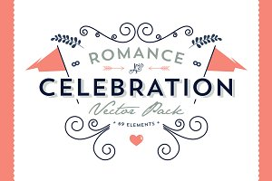 Romance & Celebration Vector Pack