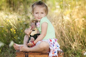 Little girl in the nature.