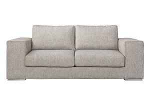Modern Sofa grey fabric isolated.