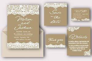 Perfect Lace Wedding invitations set