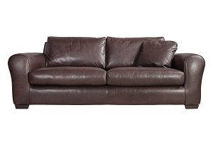 Sofa is made of genuine leather.