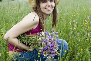 Young woman in the nature.