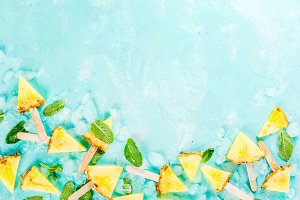 Pineapple popsicle sticks