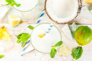 Pineapple and coconut drink