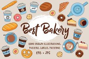 Best Bakery illustration pack +bonus