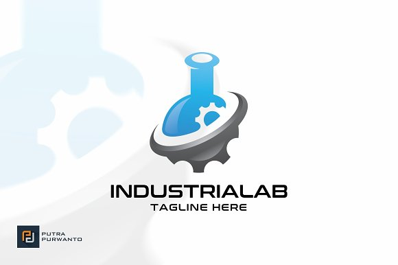 Industrial Lab Logo Template