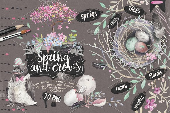 Download Spring and crows