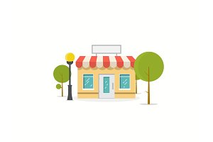 Flat store illustration