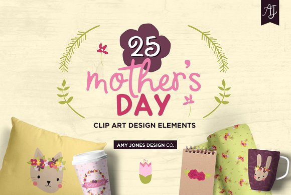 Springtime Mother's Day Clipart