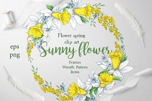 Sunny Flowers – spring clip art