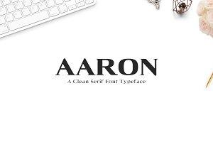 Aaron Serif 6 Font Family