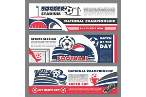 Vector football soccer championship banners