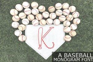 Hand Drawn Baseball Monogram Font