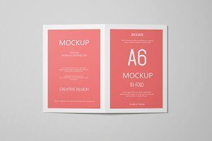 A6 Portrait Greeting Card Mockup