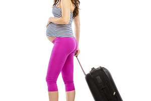 Studio shot of pregnant woman.