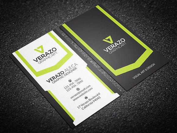 Creative Vertical Business Card Templates Market