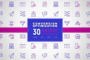 Conversion Optimization Icons Set