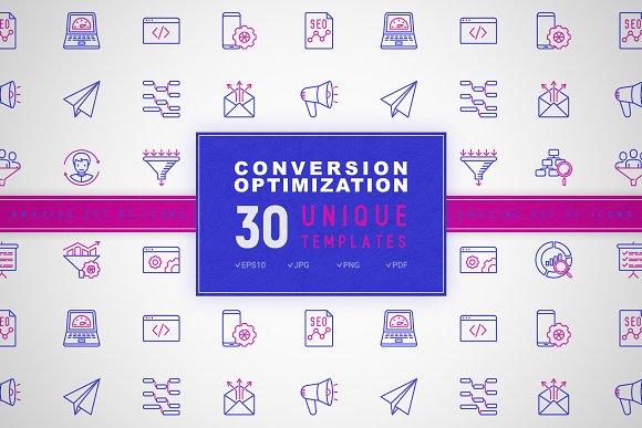 Conversion Optimization Icons Set