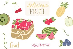 Delicious Fruit Clip Art