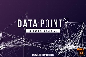 DATA POINT 1 - 48 Vector Graphics
