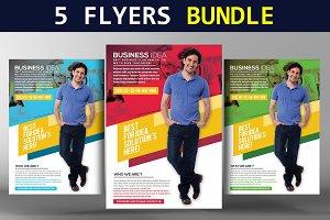 5 Creative Business Flyers Bundle