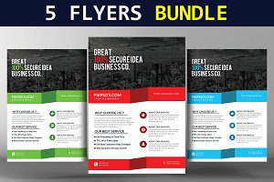 5 Global Business Flyers Bundle