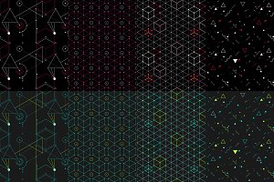 8 hip geometric patterns - dark