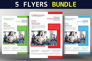 5 Multi Business Flyers Bundle