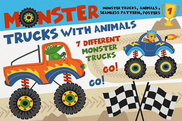 Monster Truck With Animal