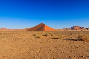 Big red sand dune landscape Sossusvlei