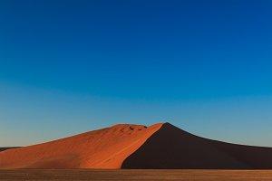 Big red sand dune sunrise magic Sossusvlei