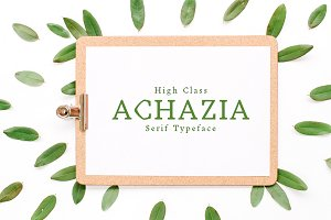 Achazia Serif 4 Font Family Pack