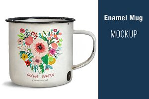 Enamel Mug MOCK UP