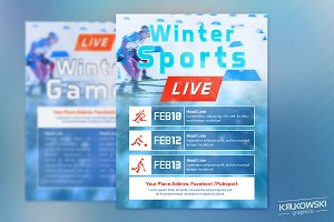 Winter Sports Event in TV Flyer