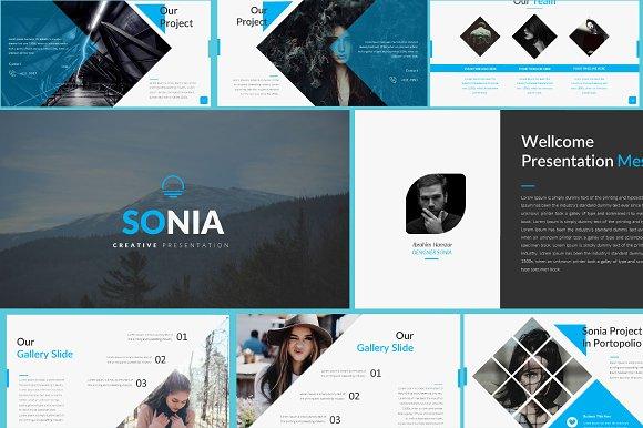 25% Off Sonia Creative Google Slidee