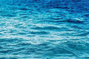 Bright Blue ocean background.