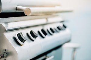Close-up Barbeque Gas stove knob.