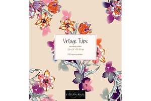 Vintage Tulips pattern