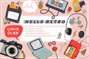 Retro clipart collection