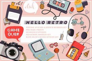 Retro clipart collection