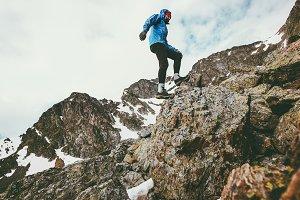 Traveler Man climbing