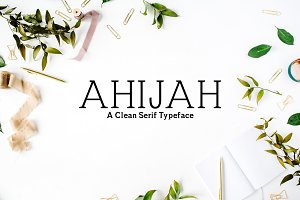 Ahijah A Clean Serif Font Family