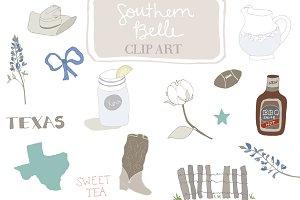 Southern Belle Clip Art